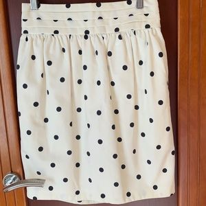 Club Monaco Cream and Black Skirt With Tags